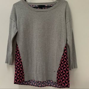Tommy Hilfiger Gray Abstract Top